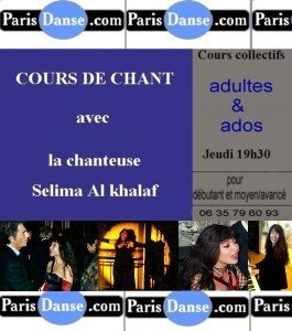 COURS DE CHANT PARIS