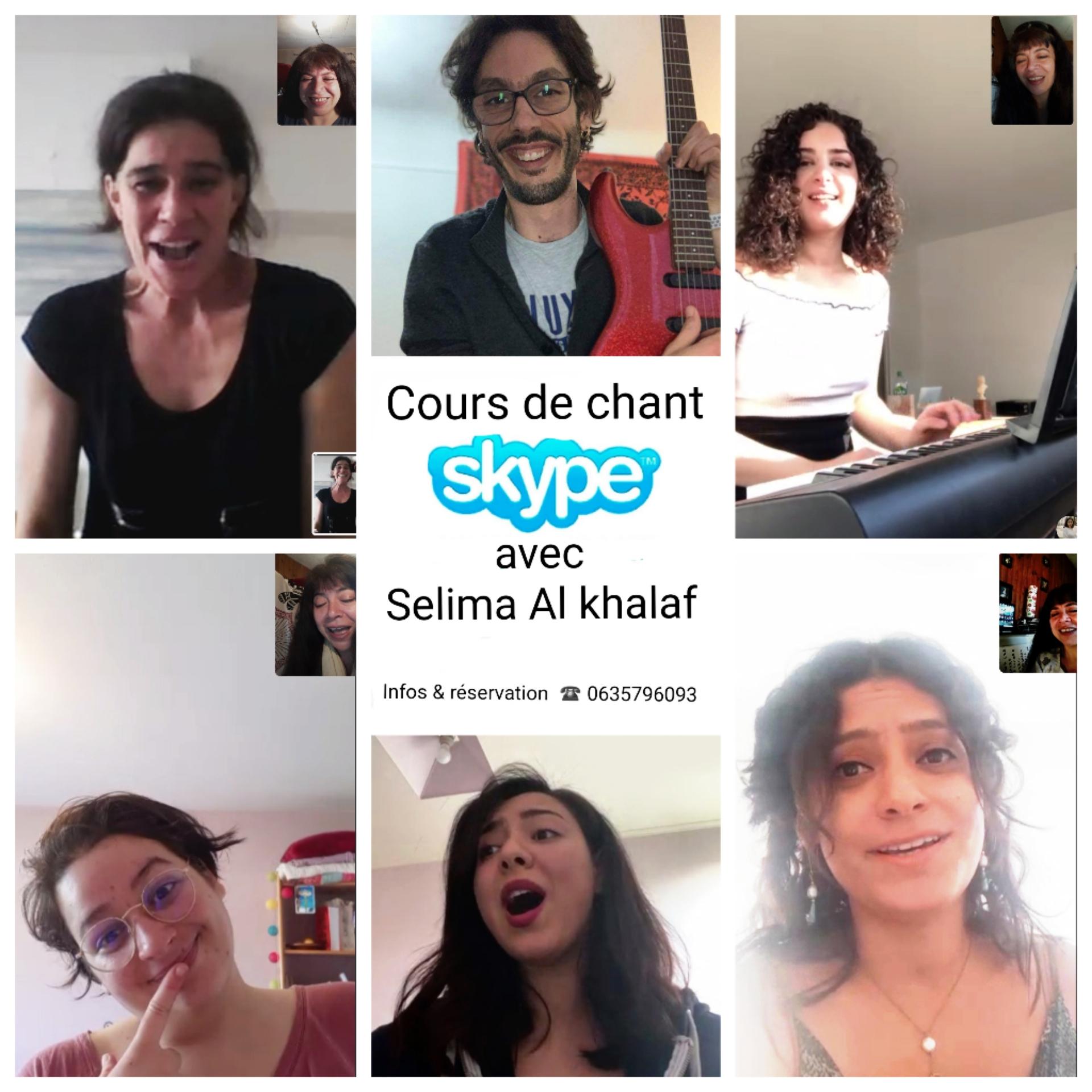 Cours de chant pas cher skype